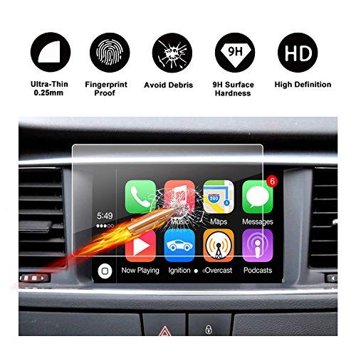 RUIYA Protector de pantalla de vidrio templado para (2012-2017) Peugeot 508 / 508 RXH i-Cockpit sistema de navegación,Crystal Clear HD película protectora[7 Pulgadas]