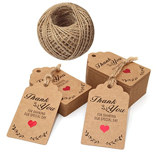 PERSONALISED WEDDING TAGS WEDDING FAVOURS  wooden heart with string