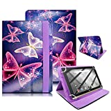 10 Inch Tablet Case Cover - Universal Leather Stand Protective Folio Case Fits for ALL 10' Inch & 10.1' Inch Tablets + Stylus Pen