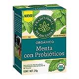 Traditional Medicinals, Té Orgánico De Menta Con Probióticos, 24 gramos