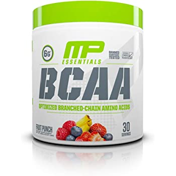 MusclePharm Essentials BCAA Powder, Post-Workout Recovery Drink, Fruit Punch, 30 Servings