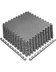 Puzzle Mat Multi Tiles Exercise Mats, Gym Protective Flooring, Non slip Rubber Cushion for Home Workout, Interlocking Gym EVA Foam Floor Mat Tiles 60 x 60 x 1 cm   4 Piece 1 Pack