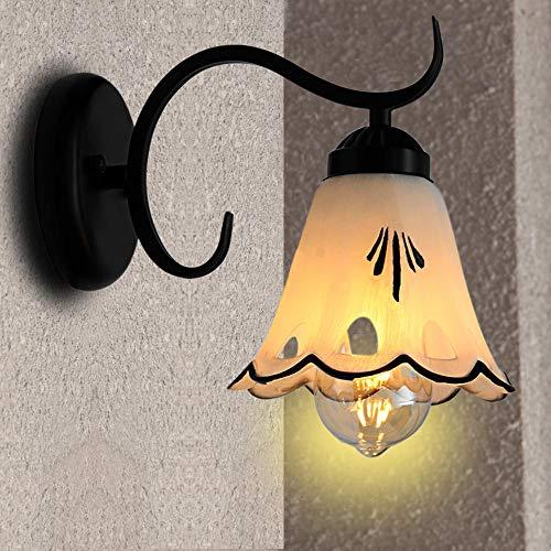 GWF Lámpara de Pared LED de cabecera Personalidad Americana Lámpara de Pared de TV Simple Pasillo Luces de Pasillo Jardín Rural Luces de Fondo