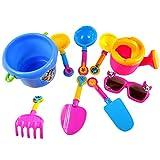 SM SunniMix 9 Stücke Kinder Sandstrand Pool Wasser Tools Kits Spielzeug Set Eimer Schaufel Rechen Können