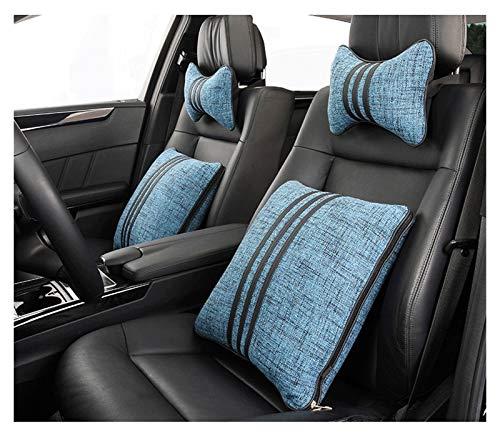QSWL Coche La Almohada Almohadilla Apoyo para El Cuello del Asiento del Automóvi Cojin LumbarCojín Respaldo Lumbar Espuma con MemoriaCojín Respaldo (Color : A, Size : 43X43X12CM)