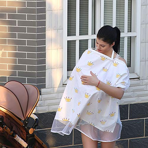 Great Features Of Nursing Cover Baby Cotton Nursing Breastfeeding Cover Full Coverage Privacy Nursin...