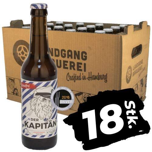Landgang Brauerei - Der Kapitän - alkoholfreies Pale Ale - 18er Karton (18 x 0,33l) - <0,5%