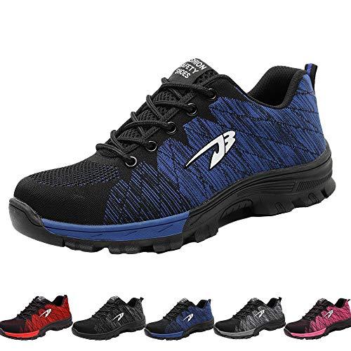 Drecage Sicherheitsschuhe Arbeitsschuhe mit Stahlkappe Atmungsaktiv Leicht für Herren und Damen Trekking Schutzschuhe Outdoor Sneaker