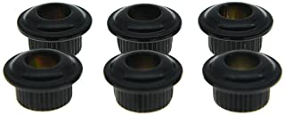 Dopro Metal Black 10mm Guitar Tuners Conversion Bushings Adapter Ferrules for Vintage Guitar Tuning Keys