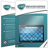 Slabo 2 x Bildschirmschutzfolie für Acer Iconia One 10 (B3-A30) Bildschirmschutz Schutzfolie Folie Crystal Clear KLAR