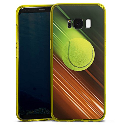 DeinDesign Silikon Hülle transparent gelb kompatibel mit Samsung Galaxy S8 Case Schutzhülle Tennis Tennisball Speed