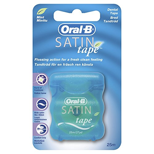 Oral-B Satin Floss - Seda dental, menta, 25 metros