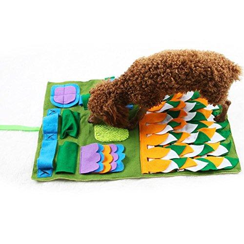 Terynbat Hund Schnüffelteppich, Riechen Trainieren Matte, Schadstofffreies Schnüffeldecke fördert natürliche Nahrungssuche, Intelligenzspielzeug für Haustier Hunde Katzen, 75 x 45 cm