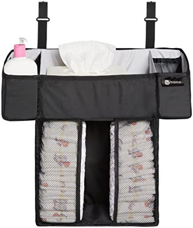 4moms breeze Playard Diaper Caddy Storage Basket for Diapers Baby Wipes and Organization from product image