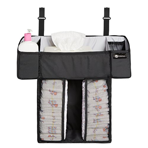 4moms breeze Playard Diapers and Baby Wipes Storage Caddy | For Baby and Infant Items | from The Makers of The mamaRoo