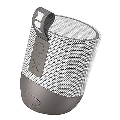 Jam Double Chill Portable Bluetooth Speaker, 12 Hour Playtime, 30 Metre Range, Waterproof, Dust Proof, Drop Proof IP67 Rating, Built In Wireless Speakerphone, Aux In Port, USB Charging - Grey from FKA Brands Ltd