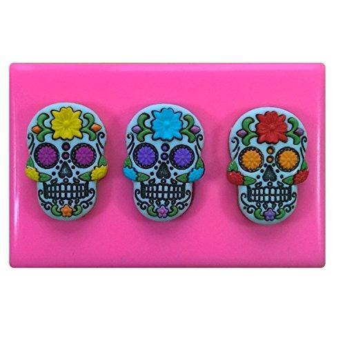Fairie Blessings - Molde de Silicona para decoración de Tartas y Cupcakes, diseño de Calavera de azúcar Mexicana (Dia de los Muertos/Esqueleto/gótico)