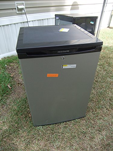 Frigidaire FFPH44M4L 4.4 Cubic Foot Compact Refrigerator with Store-More Door Bins and SpaceWise Adju, Silver Mist