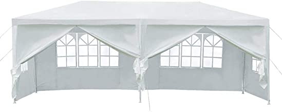 Yaheetech 20X10ft Heavy Duty PE Water Resistant Party Wedding Tent Carport BBQ Canopy Gazebo with Removable sidewalls and Zipper Door