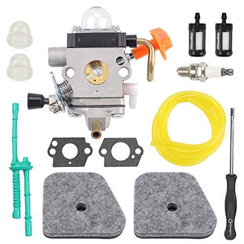 Highmoor C1Q-S174 C1Q-S131 Carburetor + Air Filter Tune Up Kit for Sthil FS87 FS90 FS100 FS110 FS130 HL90 HL95 HL100 HT100 HT101 KM90 KM100 KM110 SP90 Trimmer 4180 120 0611