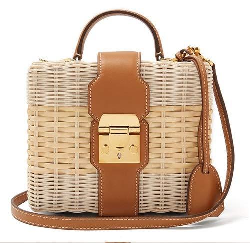 QFWN Mare Affitto Borsa Paglia della Spalla del messaggero Tessuta Sacchetto di Alta qualità del Progettista Famoso Femminile Beach Rattan Bag 2020 Nuovo Borse