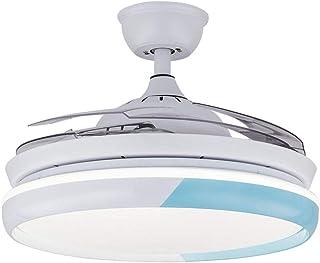 AIZPX Ventilador de techo interior luces de techo lámpara de personalidad invisible ventilador bluetooth audio creativo-O (trol remoto 36 pulgadas)_Otros