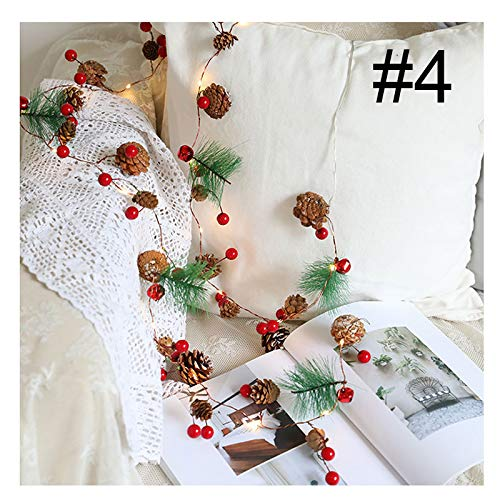 Benedict Christmas Lights Fairy Lights Wreath with Lights Flower Berries Festive Party Family Birthday Home Decor Battery Power