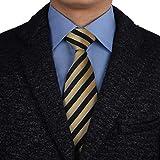 Corn,Black Long-Ties For Men Pinstripe Wrinkle-Free Long-Necktie Wedding...