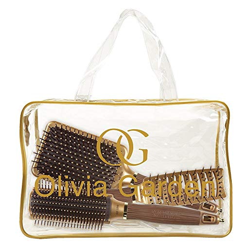 Olivia Garden Ceramic + Ion Nano Thermic Styler 3-PC Bag (S9R, VTS, PDL)