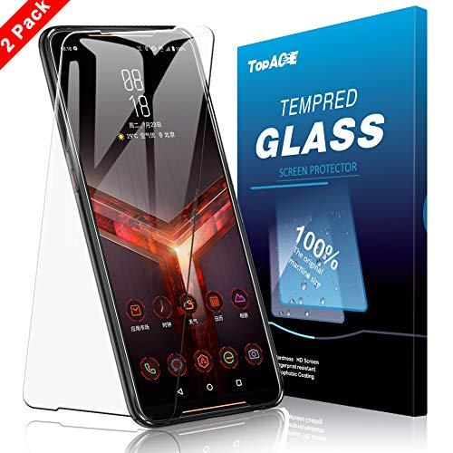 TOPACE 2 Stück Panzerglas Schutzfolie für Asus ROG Phone 2,Ultra Dünn 9H Härte Ultra-HD Schutzfolie Blasenfrei Anti-Kratzer Anti-Öl Gehärtetes Glas Bildschirmschutzfolie für Asus ROG Phone 2