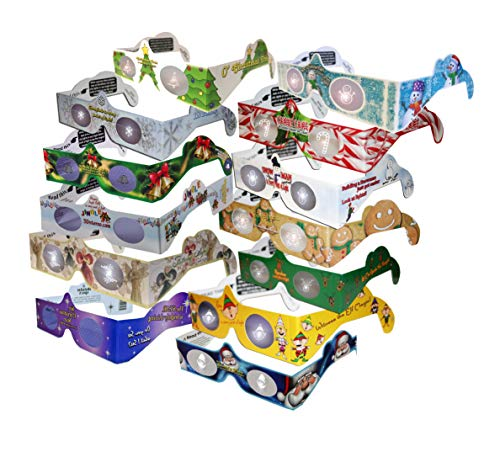 23 Pairs 3D Holiday Glasses -13 Different Styles  Includes Jingle Bells,   Folded Sleeved - Transform Holidays Lights Into Magical Images