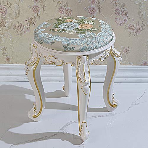 Taburete de tocador, banco acolchado, asiento de maquillaje, silla de piano barroca para sala de estar, dormitorio, tocador con espejo, taburete de tocador, silla de maquillaje, cojín acolchado
