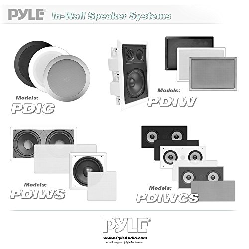 "Ceiling Wall Mount Enclosed Speaker - 300 Watt Stereo In-wall / In-ceiling Flush Mounted Sound Speaker System W/ Dual 5.25"" Long Throw Woofers, 1"" Tweeter, 8 Ohm Impedance - Pyle PDIWCS56 (White)"