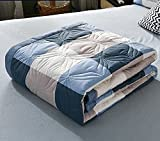 uyeoco Tagesdecke Bettdecken Gesteppte Doppelbett Patchwork Quilts Doppel/Einzel Super King Size Patchwork Steppdecke Bettdecke 100prozent Baumwolle Bettdecken Sets Wende Bettdecke Würfe