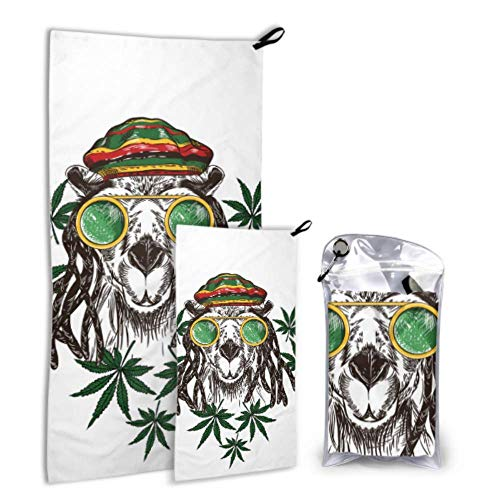 N\A Serious Camel Hardworking Outdoor 2 Pack Microfiber Beach Towel Women Towel Set Dry Fasting Best for Gym Travel Backpacking Yoga Fitnes