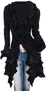 LY-VV Womens Victorian Cardigan Gothic Steampunk Slim Fit Lace Cardigan