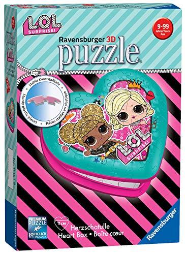 Ravensburger- Herzschatulle 3D Puzzle, Color 1. (11164) , color/modelo surtido