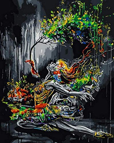 Jigsaw Puzzle 5000 Pieces Children Adult Large Jigsaw Puzzle Game Toy Gift Creative Decompression DIY Challenge Art Picture-Abstract Big Tree Skirt Ballet