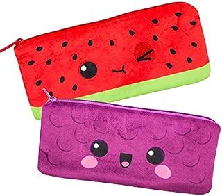 Scentco Cutie Fruities Scented Pencil Pouch - School, Office, Travel Cases (Grape & Watermelon)