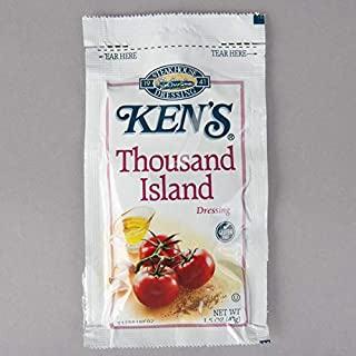 BWS Ken's Foods, Inc. 1.5 oz. Deluxe Thousand Island Dressing Packets, Case of 60