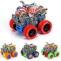 4-Pack Friction Powered Mini Push and Go Monster Trucks