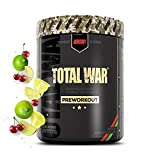 Redcon1 Total War - Pre Workout Powder, 50 Servings, Boost Energy, Increase Endurance and Focus, Beta-Alanine, 350mg Caffeine, Citrulline Malate, Nitric Oxide Booster - Keto Friendly (Cherry Lime)