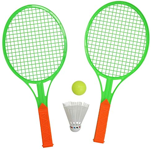 GERI 2 giocatori Mini Badminton Set di 2 racchette & 1 volano & 1 palla, Verde
