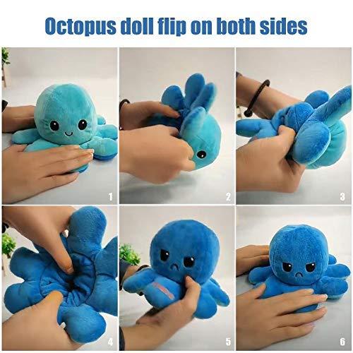Webby Reversible Big Octopus Plush Stuffed Animal Toy Assorted - 1piece