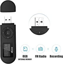 $21 » Mp3 Player,USB Mp3 Player with FM Radio,Voice Recorder,idoooz U2 8GB Music Player Support One-Button for Recording (Black)
