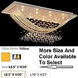 Blissbee BB Crystal Chandelier Modern Glass Fixture Pendant Ceiling Light Lamp 2 LED Light L8.5' X W20' Yellow Light