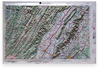 American Educational Virginia Charlottesville Map without Frame, 31' Length x 21' Width [並行輸入品]