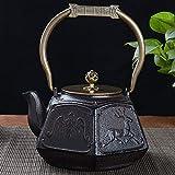 ZCME-power Tetera, Tetera Japonesa de Hierro Fundido para té Suelto y bolsitas de té Tetera de Hierro Resistente a la...