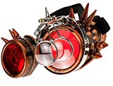 MFAZ Morefaz Ltd Gafas de Sol Welding Cyber Goggles with Spikes Steampunk Goth Cosplay Sunglasses Round Glasses Party Fancy Dress (Coopper Spikes Loupe)