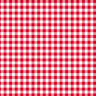 red and white gingham paper plates